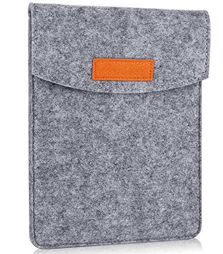 ProCase 6 Pulgadas Funda de Fieltro, Bolsa Portátil Cubierta Protectora for 5 – 6 Pulgadas Tablet Movil Smartphone, Amazon Kindle Paperwhite/Voyage/E-Reader E-Book -Gris