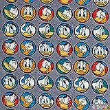 Jersey Stoff Disney Donald Duck grau 0,50m x VB