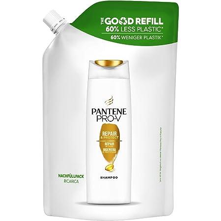 Pantene Pro-V Rigenera e Protegge, Shampoo Ricarica con Il 60% In Meno di Plastica, Ripara All'istante i Segni dei Danni, 480ml