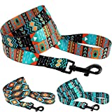 CollarDirect Nylon Dog Leash 5ft Tribal Pattern Durable Walking Pet Leashes for Dogs Small Medium Large Puppy...