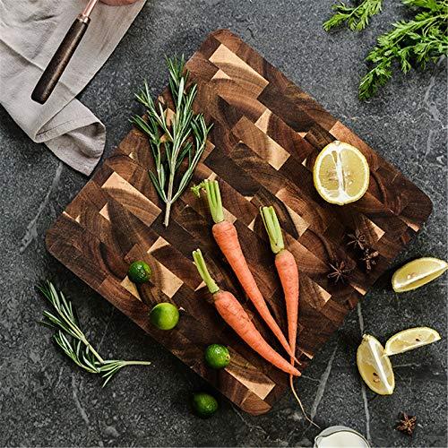 Vobajf Tabla de Cortar Hogar Cocina De Madera Maciza Duradero Tabla For Cortar Madera Geométrico Cuadrado De Empalme Conjuntos Tabla de Cortar (Color : Multi-Colored, Size : 28x28cm)