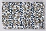 Mango Gifts Kantha-Steppdecke, indische Baumwolle, Tagesdecke, Handwerksarbeit aus Indien, ca. 220x 270cm