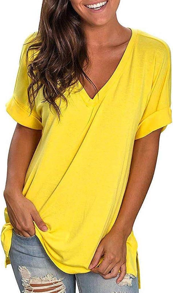quality assurance Women Fashion Summer Sale item Shirt V Tuni Neck Short Sleeve Casual