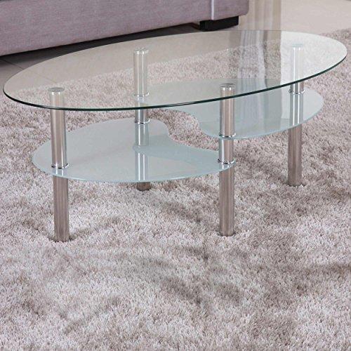 Euro Tische -   Couchtisch Glas mit