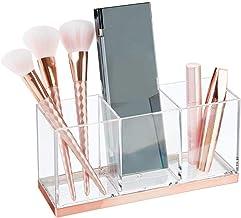 mDesign Gran Organizador de Maquillaje con 3 Compartimentos – Práctica Caja clasificadora para cosméticos – Caja de Maquil...