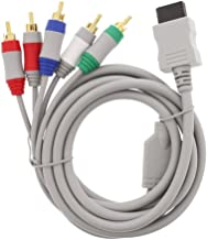 ANYQOO 6 Feet Wii Component Audio Video Cable HDAV Component HD AV Cable to HDTV/EDTV 5 RCA Video & RCA Stereo Audio AV Cord for Nintendo Wii & Wii U