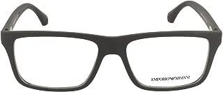 Armani EA3034 Eyeglass Frames 5649-55 - Black Rubber...