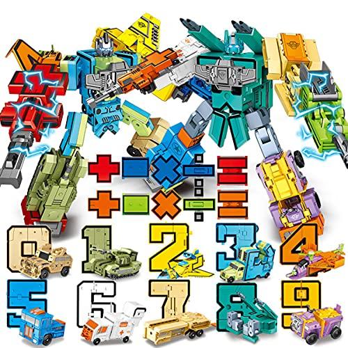 Number Robots Transforming Action Figure Toys for Montessori Teaching, School Classroom Rewards,...
