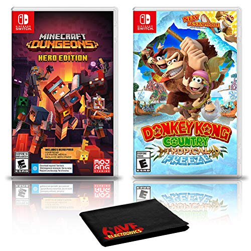 Minecraft Dungeons Hero Edition + Donkey Kong Country: Tropical Freeze - Two Game Bundle - Nintendo Switch