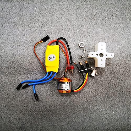 Motore brushless , A2212 1400KV Motore brushless 30A ESC Motor Mount Outrunner 9050 Elica SG90 9G Micro Servo per Elicottero RC ad Ala Fissa(Color:A2212 Motor 30A ESC)
