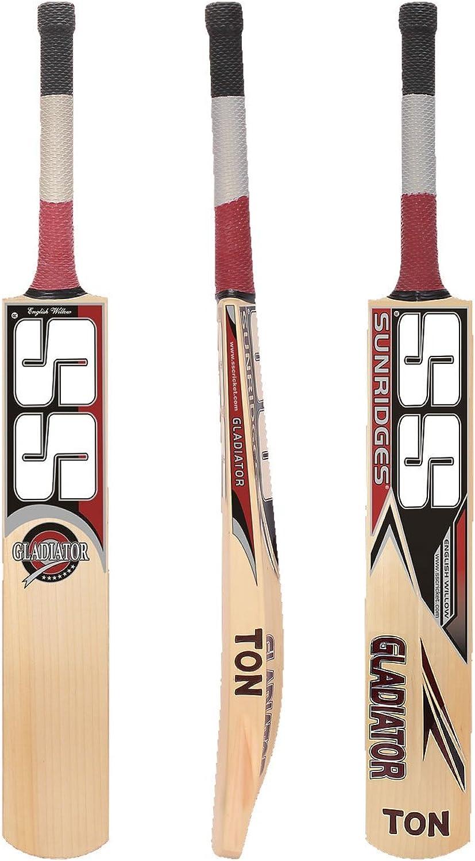 SS  Sunridges SS Gladiator Kashmir Willow Cricket Bat, Full Size Short Handle