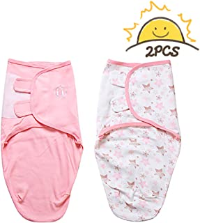 ALLYAOFA Swaddle Blanket for Baby, Newborn Boy or Girl Adjustable Sleepsack 100% Breathable Soft Premium Cotton, S or M - ...