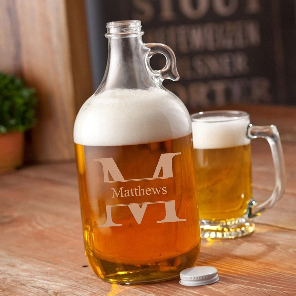 KegWorks Clear Glass Beer - Growler Recommendation 64 oz Sales