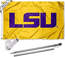 Louisiana State LSU Tigers Gold Flag with Pole and Bracket Complete Set