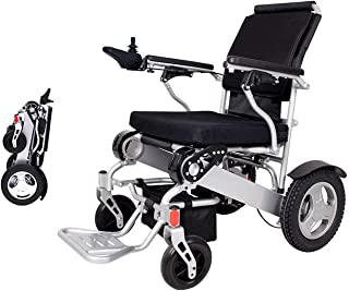 2019 Folding Electric Powered Wheelchair Lightweight Portable Smart Chair Personal Mobility Scooter Wheelchair - Weighs only 58 lbs with Battery - Supports 400 lb (Silver)
