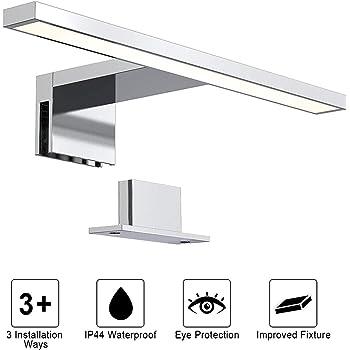 LED Lampada da Specchio 3W // 9W // 12W Bianco Caldo//Bianco Freddo SUNJULY Luce da Specchio a LED per Bagno in Acciaio Inossidabile Impermeabile per Bagno e Parete 3000K