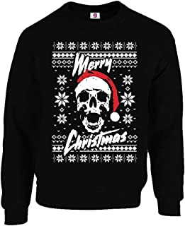 Graphic Impact Funny Vintage Retro Santa Skull Ugly Christmas Sweaters Xmas Jumpers