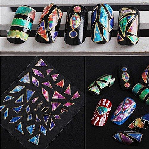 Hunpta 15 feuilles Nail Art transfert Stickers 3d Design Manucure Conseils Autocollant Décoration