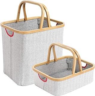 Paniers de Rangement Boîte de rangement maison pliable de style nordique simple multifonctionnel de haute qualité en tissu...