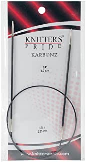 Knitter's Pride 1/2.25mm Karbonz Fixed Circular Needles, 24
