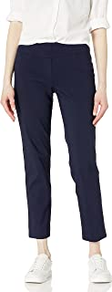 Ruby Rd. Women's Petite Pull-On Solar Millennium Super Stretch Pant, Navy, 8 Petite