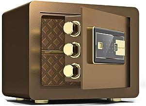JJYPY Digital Security Safe Box, Cabinets Fingerprint Wall Safe Lock Box Cash Strongbox with Number Keys Emergency Lock (C...