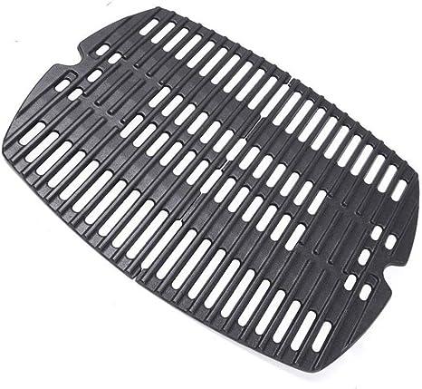 Amazon.com : Uniflasy 7644 Cast Iron Cooking Grates for Weber Q100, Q1000, Q120, Q1200, Q1400, 516001, 516002, 50060001, 51010001, 51060001, Baby Q Gas Grill, 2 Pack : Patio, Lawn & Garden