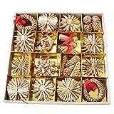1箱クリスマスペンダント クリスマスペンダント 麦わら工芸品 籐リングペンダント
