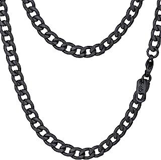 PROSTEEL Stainless Steel Cuban Chain Necklaces/Bracelets for Men Women, Black/18K Gold Plated, Nickel-Free, Hypoallergenic...