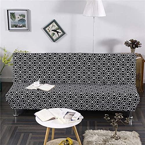 WXQY Funda de sofá con Estampado Floral, Funda de sofá elástica Plegable sin reposabrazos, Funda de sofá Plegable, Funda de sofá Cama A8 de 3 plazas