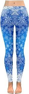 Custom Christmas Snowflake Blue Stretchy Capri Leggings Skinny Pants for Yoga Running Pilates Gym(2XS-5XL)