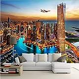 Zybnb Vista Nocturna De La Ciudad De Dubai Mural Papel Pintado Pintura De Pared Personalizada Papel Pintado Sala De Estar Fondo De Tv Foto Papel De Pared Rollos 3D
