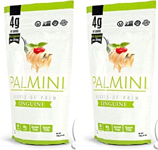 Palmini Low Carb Pasta | 4g of Carbs | As Seen On Shark Tank | 12 Oz. Pouch (Pack of 2)