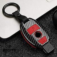 LYSHUI 車のキーケースカバー、メルセデスベンツABRGクラスw204 W251 W463 W176 SLS SLK GLK CLKE400リモートフォブキーホルダーバッグ用