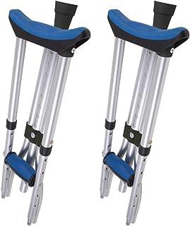 Carex Folding Crutches – Folding Aluminum Underarm Crutches – Lightweight,..