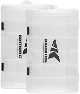 KastKing Tackle Boxes, Plastic Box, Plastic Storage Organizer Box with Removable Dividers - Fishing Tackle Storage - Box Organizer - 2 Packs /4 Packs Tackle Trays - Parts Box