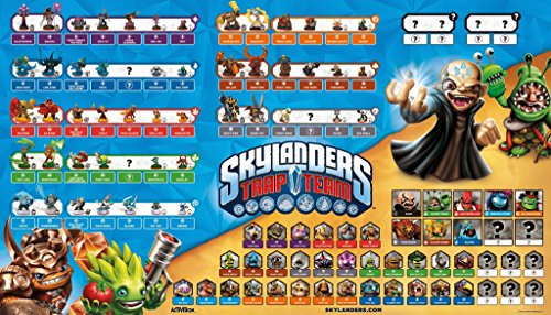 "Skylanders Trap Team Character and Villain Poster 35"" x 20"""