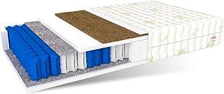 FDM Europa-Colchón de Espuma de Poliuretano con 7 Zonas (120 x 200 cm, dureza H4/H3, 18 cm de Alto), Coco