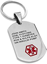 Medical Alert Heart Patient Keychain Fob Zipper Pull Charm I Have Stents Medical Alert Coronary Bypass surgery Angioplasty Tag