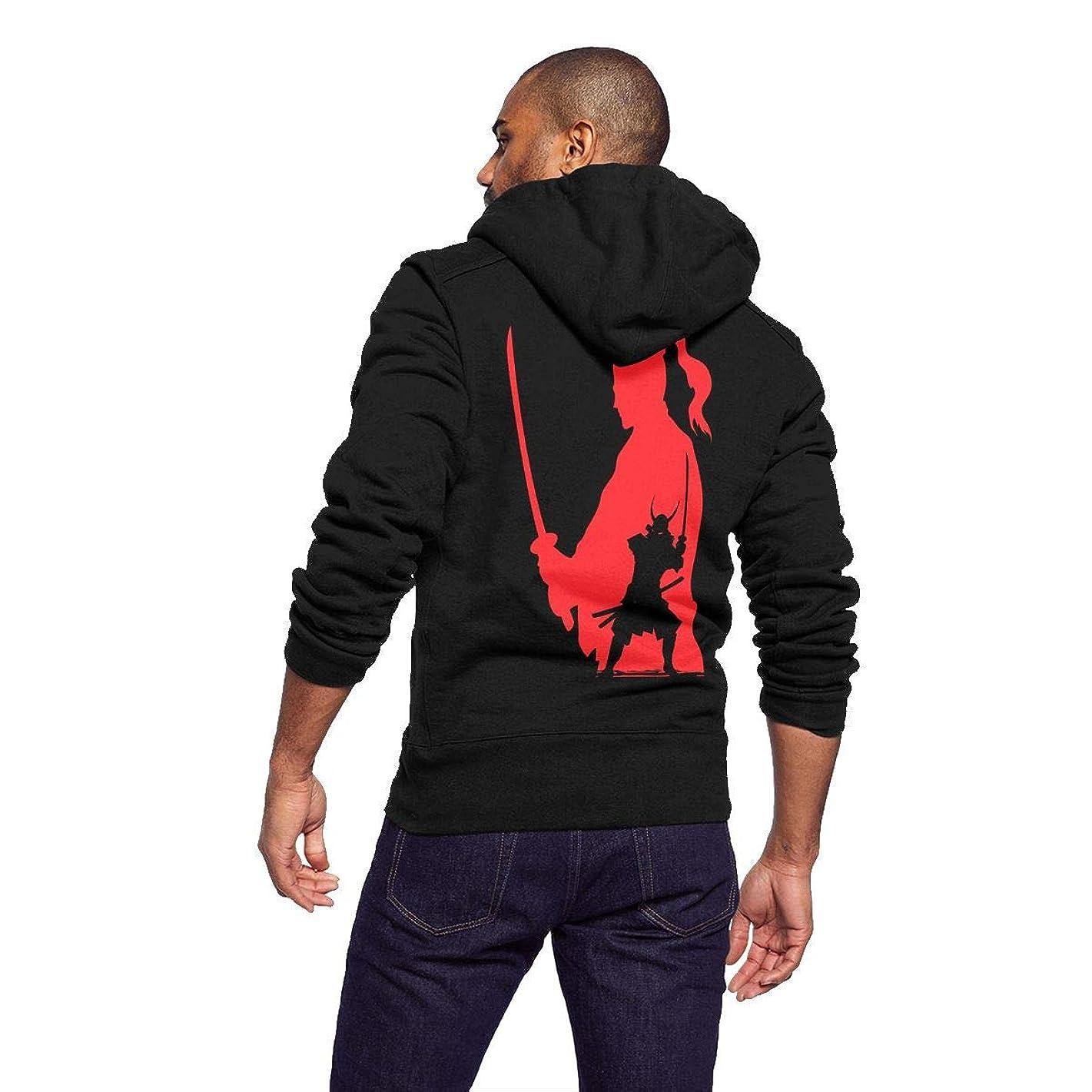 Hipster Style Hoodie Full Zip Hoodies for Men Lightweight, Fleece Sweatshirt Pullover Graphic Jacket