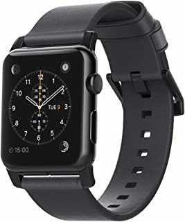 Nomad Modern Strap for Apple Watch 44mm/42mm | Slate Gray Horween Leather | Black Hardware