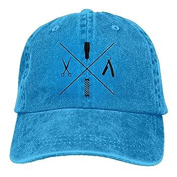 JINYOUR Cowboy Hat Barber Shop Haircut Adult Adjustable Washed Baseball Cap