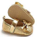 HINK-Clothing - Zapatos de bebé para niñas y niños, zapatos de bebé, recién nacidos, niños, niñas y niños, antideslizantes, zapatos de agua para bebé, grandes ventas, Mujer, dorado, 0-3 meses