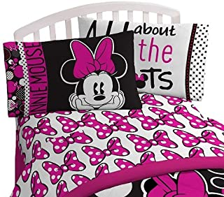 Disney Minnie Mouse Rock The Dots Microfiber Full 4 Piece Sheet Set