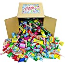Assorted Candy Party Mix, 6x6x6 Bulk Box (Appx. 4 Lbs) - Halloween Candy Bulk : Fire Balls, Airheads, Jawbusters, Laffy Taffys, Tootsie Rolls and Much More!