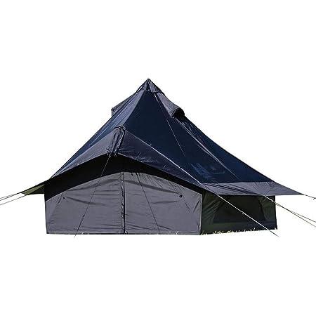 カナディアンイースト(Canadian East) アウトドア キャンプ テント ワンポールテント グロッケ8 【4人用】 ブラック CETO1003