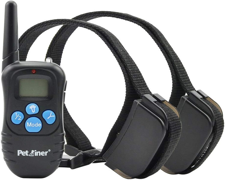 NJJD Pet Stopper, LCD bluee Screen Backlight 300 Yards Shock Shock Sound Waterproof Charging pet