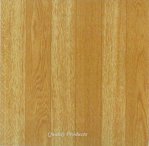 Baldosas de vinilo autoadhesivas, 44 unidades, para cocina/cuarto de baño, adhesivas, efecto de madera lisa