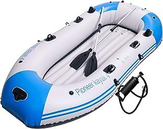 قایق بادی یوكالو ، كایاك بادی قایق ، كایاك قایق ماهیگیری ، قایق 2،3،4 نفره با پارچه های آلومینیوم ، كوسن ، طناب ، پچ تعمیراتی و پمپ دستی با خروجی بالا
