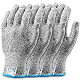 Stark Safe Cut Resistant Gloves Food Grade Level 5 Protection, Safety Kitchen Cut Gloves for Oyster Shucking, Meat Cutting, Fish Fillet Processing, Mandolin Slicing, and Wood Carving (XL - 2 Pair)